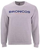 70c8a7b5a Authentic NFL Apparel Men s Denver Broncos Gunslinger Crew Neck Sweatshirt