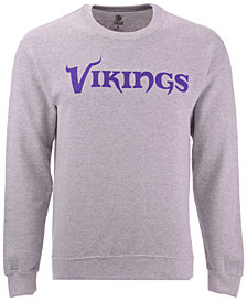 Authentic NFL Apparel Men's Minnesota Vikings Gunslinger Crew Neck Sweatshirt