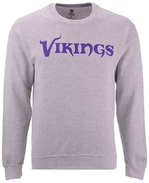 online store 8773e 39523 Men's Minnesota Vikings Gunslinger Crew Neck Sweatshirt