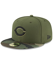 Cincinnati Reds Authentic Collection Anniversary Patch 59FIFTY Fitted Cap