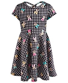 Toddler Girls Printed Minnie Mouse Scuba Dress