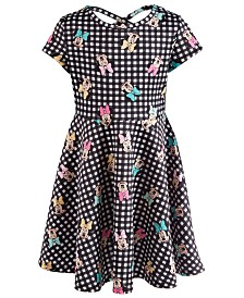 Disney Little Girls Printed Minnie Mouse Scuba Dress