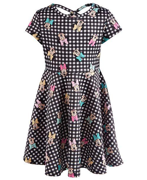 Disney Toddler Girls Printed Minnie Mouse Scuba Dress