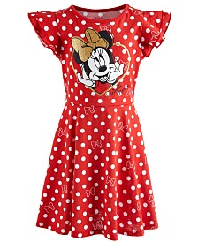 Disney Little Girls Dot-Print Minnie Mouse Dress