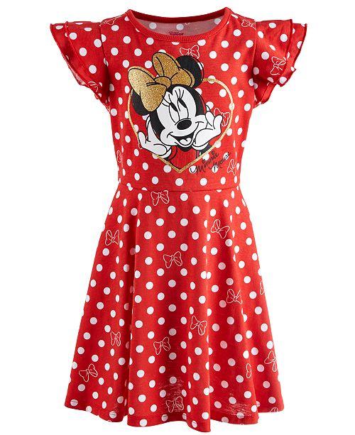 Disney Little Girls Dot-Print Minnie Mouse Dress