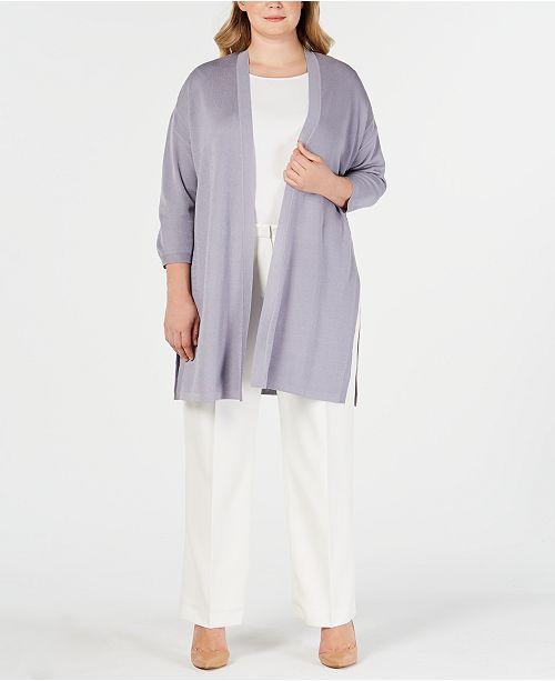 9dbce28e8db7e Anne Klein Plus Size St. Barts Long Cardigan Sweater - Sweaters ...