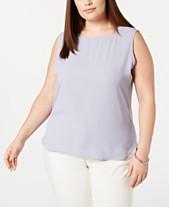 619dd5a3921 Anne Klein Plus Size Tops - Macy s