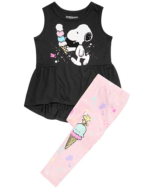 Peanuts Toddler Girls 2-Pc. Snoopy Ice Cream Tunic & Leggings Set