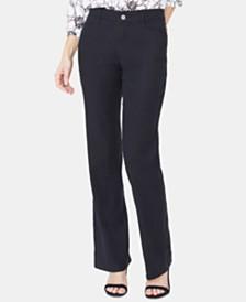 NYDJ Tummy-Control Slim-Leg Trousers