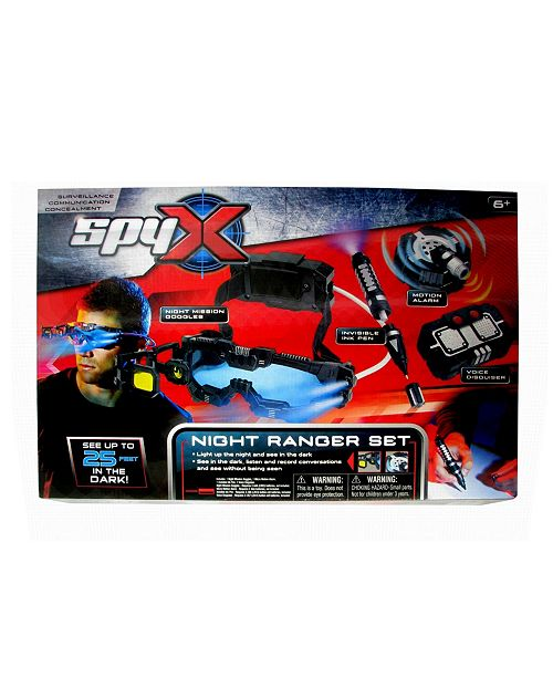 Mukkikim Mukikim - Spyx Night Ranger Set With Night Mission Goggles, Motion Alarm, Voice Disguiser And Invisible Ink Pen