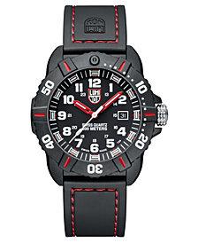 Luminox Men's 3035 Cornado Red/ Black Rubber Strap Watch