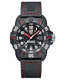 Luminox Men's 3035 Cornado Red/ Black Rubber Strap Watch