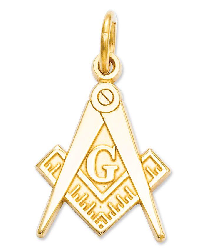 Macy's - 14k Gold Charm, Masonic Charm