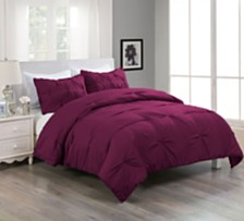 Lotus Home Pintuck Comforter Mini Set with Water and Stain Resistance