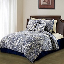 Valentina 3-Piece Flowers and Doodles Microfiber Duvet Cover Set