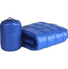 """PUFF 50"""" x 60"""" Down Alternative Indoor/Outdoor Water Resistant Packable Throw"""