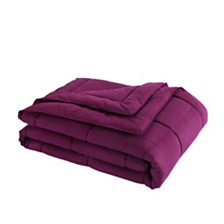 Lotus Home Twin Down Alternative Blanket with Microfiber Cover and Water and Stain Resistance