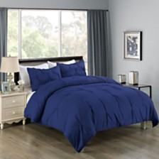 Cottonloft Lotus Home Pintuck Comforter Mini Set with Water and Stain Resistance