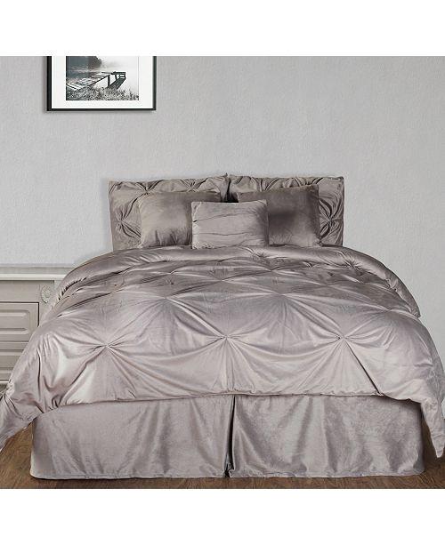 Cottonloft Pintuck Plush 7-PC Complete Comforter Set