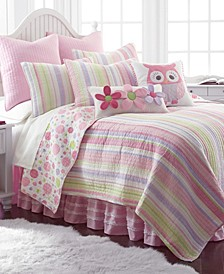 Home Merrill Stripe Girl Twin Quilt Set