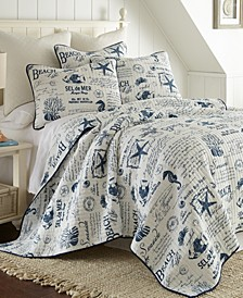 Home Beach Life King Quilt Set with 2 King Shams