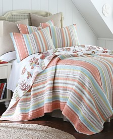 Levtex Home Brighton Coral King Quilt Set