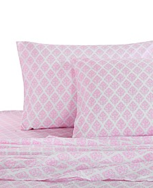 Home Pink Damask Full Sheet Set