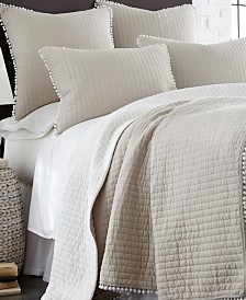 Levtex Home Pom Pom Taupe Twin Quilt