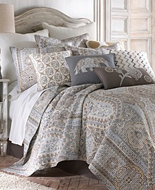 Home Casablanca Gray Full/Queen Quilt Set
