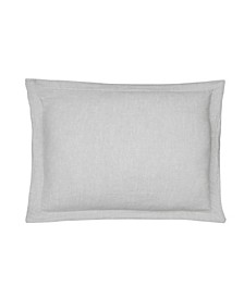 Home Washed Linen Light Gray Sham with Flange
