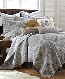 Solano Medallion Print Reversible Full/Queen Quilt Set