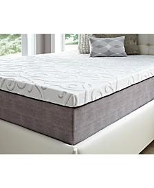 "14"" Comfort Loft Gray Rose with Ebonite Full Memory Foam and Comfort Choice, Soft"