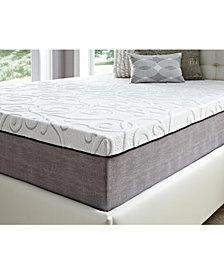 "14"" Comfort Loft Gray Rose with Ebonite Twin XLong Memory Foam and Comfort Choice, Medium Firmness"