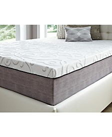 "14"" Comfort Loft Gray Rose with Ebonite Twin XLong Memory Foam and Comfort Choice, Medium Firmness"