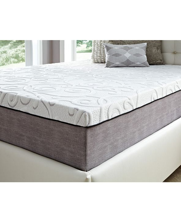 "Future Foam 14"" Comfort Loft Gray Rose with Ebonite Twin Memory Foam and Comfort Choice, Firm"