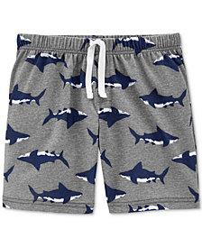 Carter's Little Boys Shark-Print Pajama Shorts
