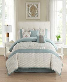 Amarie 7 Piece Jacquard Comforter Set Queen
