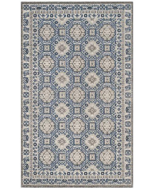 Safavieh Artisan Silver and Blue 3' x 5' Area Rug