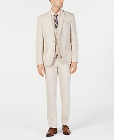 Men's Slim-Fit Linen Tan Suit Separates, Created for Macy's