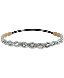 Deepa Silver-Tone Crystal, Bead & Braided Cotton Headband