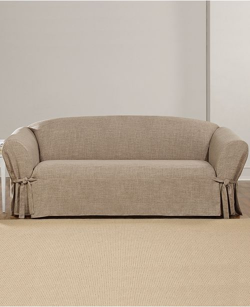 Sure Fit Textured Linen 1 Piece Sofa
