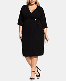 City Chic Trendy Plus Size Carmen Wrap Dress