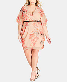 City Chic Trendy Plus Size Sweet Delilah Dress