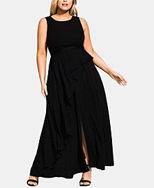 City Chic Trendy Plus Size Antilla Slit-Front Gown