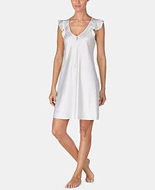 Lauren Ralph Lauren Flutter-Sleeve Satin Nightgown