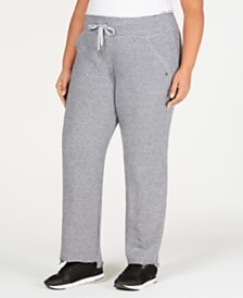Calvin Klein Performance Plus Size Relaxed Striped Pants
