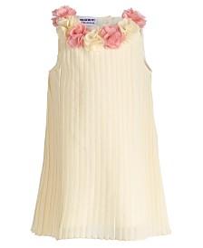 Blueberi Boulevard Baby Girls Pleated Rosette Dress