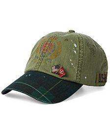 Polo Ralph Lauren Men's Paint-Splatter Crested Cap