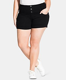 Trendy Plus Size Denim Shorts