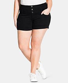 City Chic Trendy Plus Size Denim Shorts
